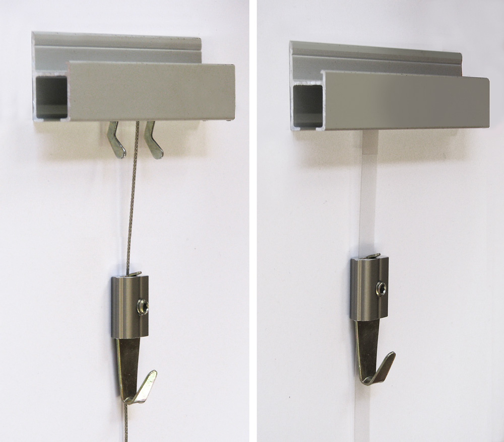 Track Hanging System For Pictures Lets You Change Art
