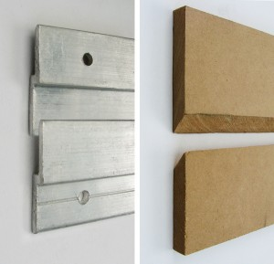 Z-Bar, french cleats, hanging heavy artworks, hang picture on stud wall, hang art on plaster wall