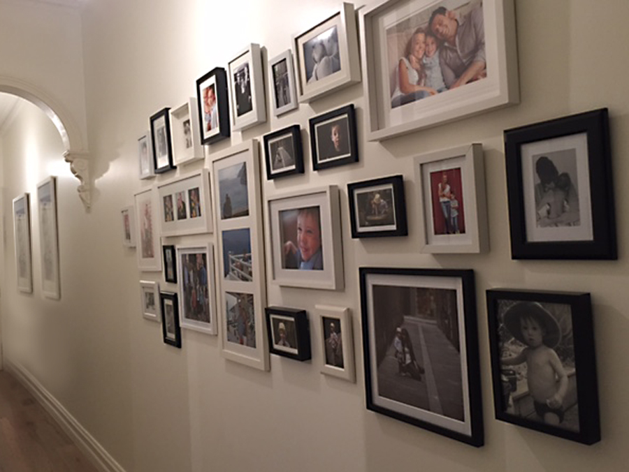 family photo wall by Hangin' with Phil